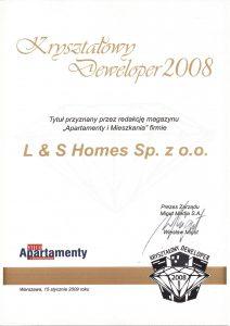 Kryształowy Deweloper 2008