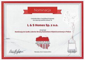 Nominacja do Godła Liderów Branży Budowlano-Wykończeniowejwej